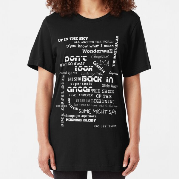 Oasis Songs Slim Fit T-Shirt