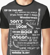 Oasis Songs Graphic T-Shirt