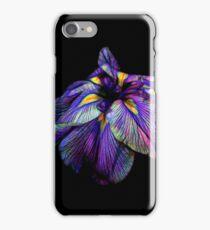 Purple Siberian Iris Flower Neon Abstract iPhone Case/Skin