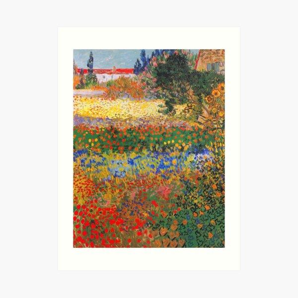 Flower Garden Painting by Vincent Van Gogh Art Print