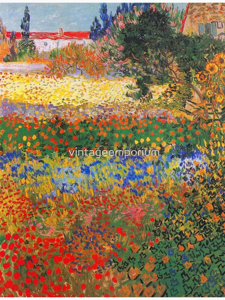 Flower Garden Painting by Vincent Van Gogh by vintageemporium
