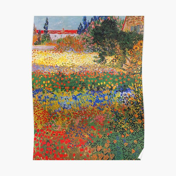 Flower Garden Painting by Vincent Van Gogh Poster