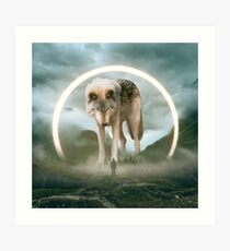 aegis | wolf Art Print
