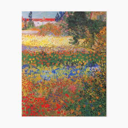Flower Garden Painting by Vincent Van Gogh Art Board Print