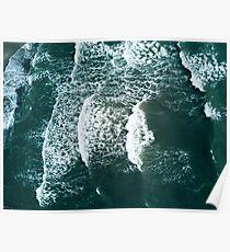 Waves crashing  Poster