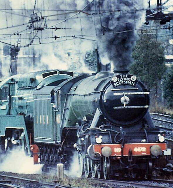 Strathfield,NSW-Flying Scotsman & 3801,Australia 1999 by muz2142