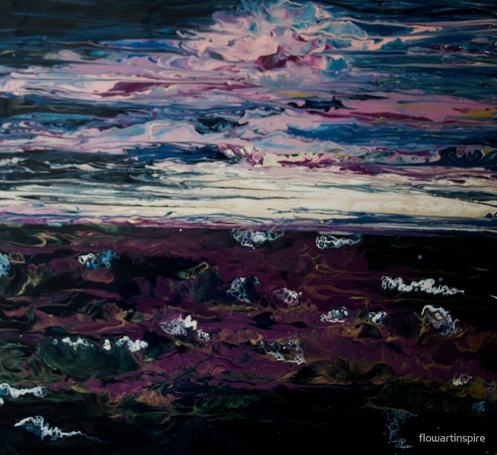 dusk at sea by flowartinspire