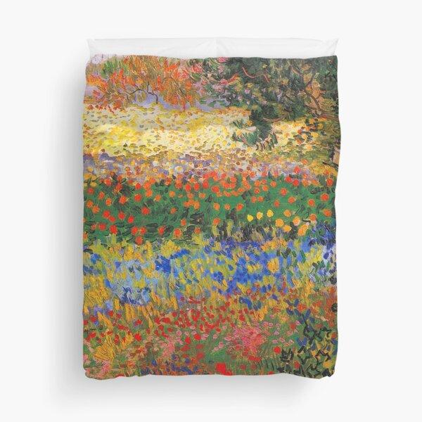 Flower Garden Painting by Vincent Van Gogh Duvet Cover