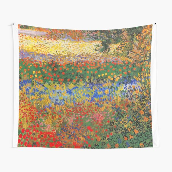 Flower Garden Painting by Vincent Van Gogh Tapestry