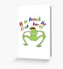 Kurmet the Frog Here! Greeting Card