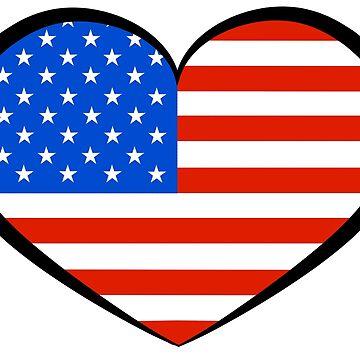 I Heart U S A by izeqa