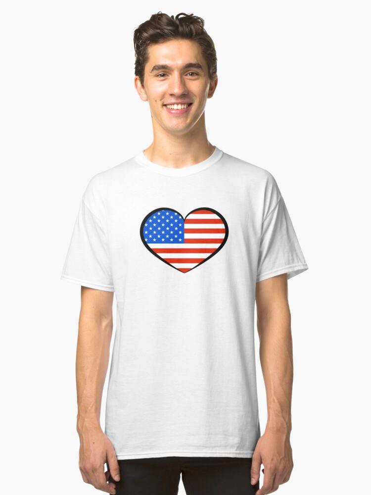 I Heart U S A Classic T-Shirt Front