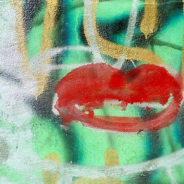 Red Kiss 3 Graffiti by srwdesign