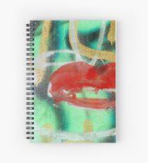 Red Kiss 3 Graffiti Spiral Notebook