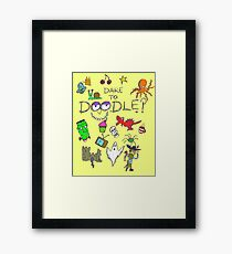 Dare to Doodle? Framed Print