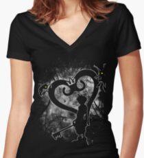 Keyblade Chosen Women's Fitted V-Neck T-Shirt
