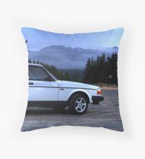 Hurricane Ridge and Volvo Throw Pillow