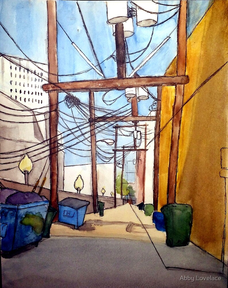 Alley in Galveston by Abby Lovelace
