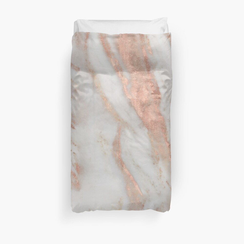 Civezza - rose gold marble Duvet Cover