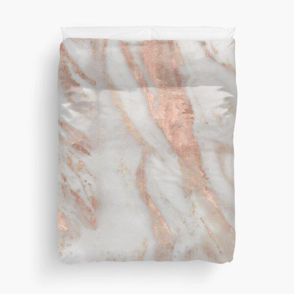 Civezza - rose gold marble Duvet Cover