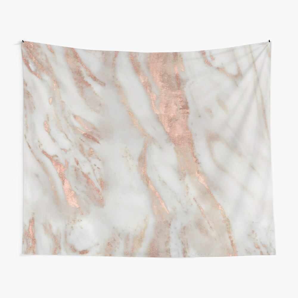 Civezza - rose gold marble Wall Tapestry