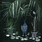 cat in the night garden by Marianna Tankelevich