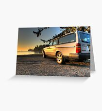 Sunset Bay Volvo Greeting Card