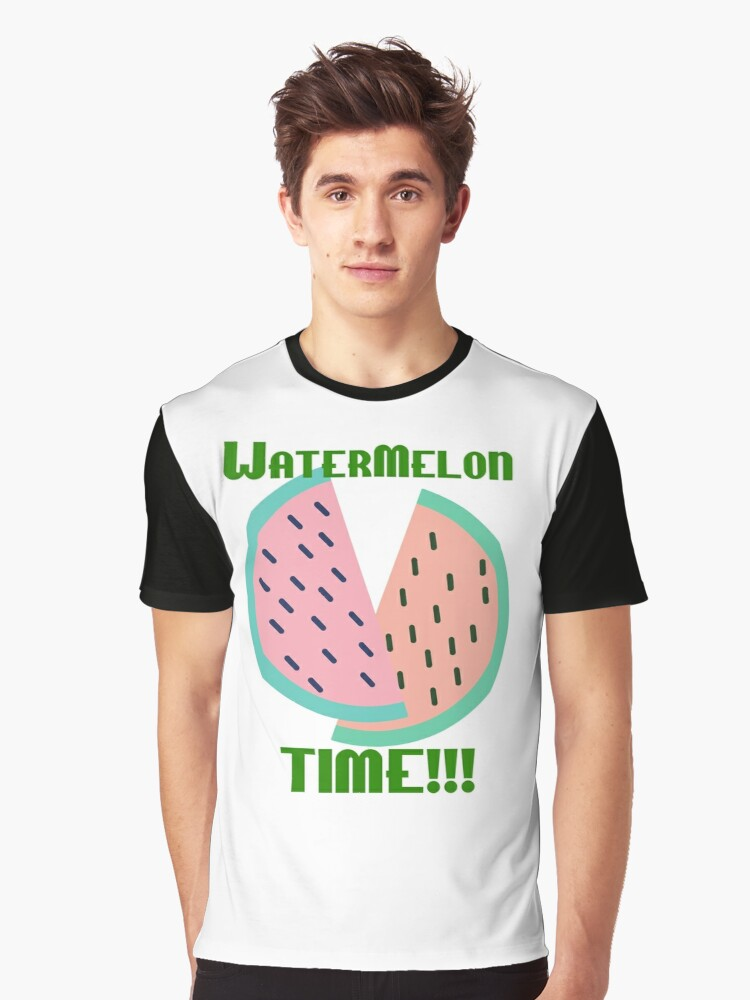 Watermelon Time!!! Graphic T-Shirt Front