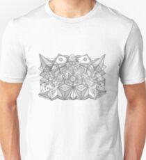 Folding Faces  Unisex T-Shirt