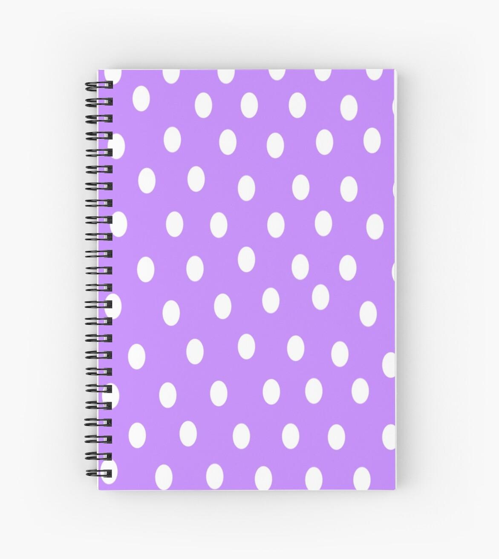 Poka Dots Pastel Purple by Xinoni