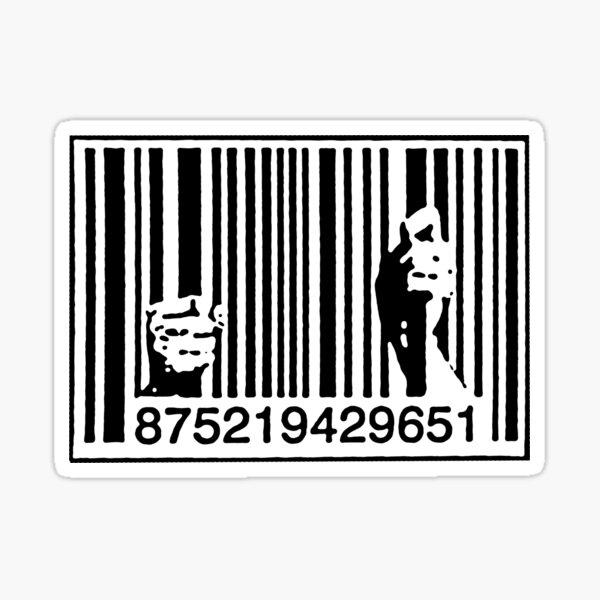 Consumismo del graffiti de Banksy Pegatina