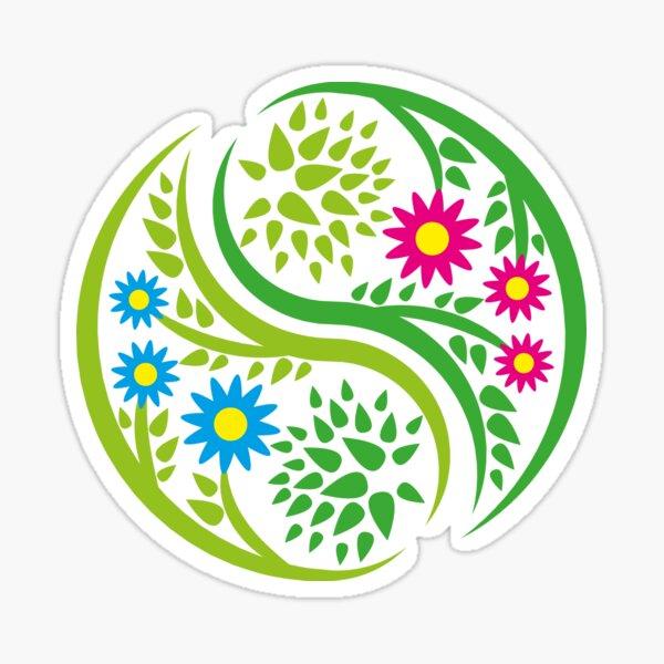 Flower yin yang Sticker