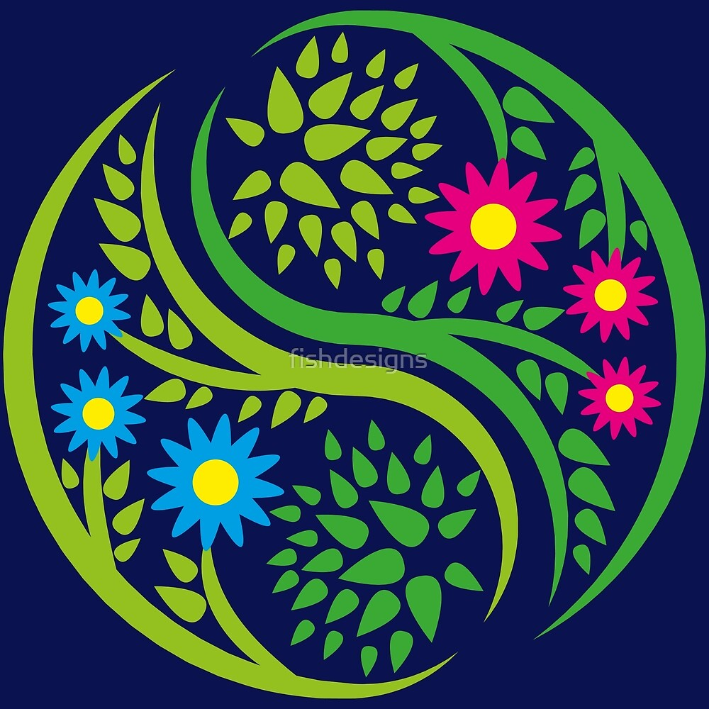 Flower yin yang by fishdesigns