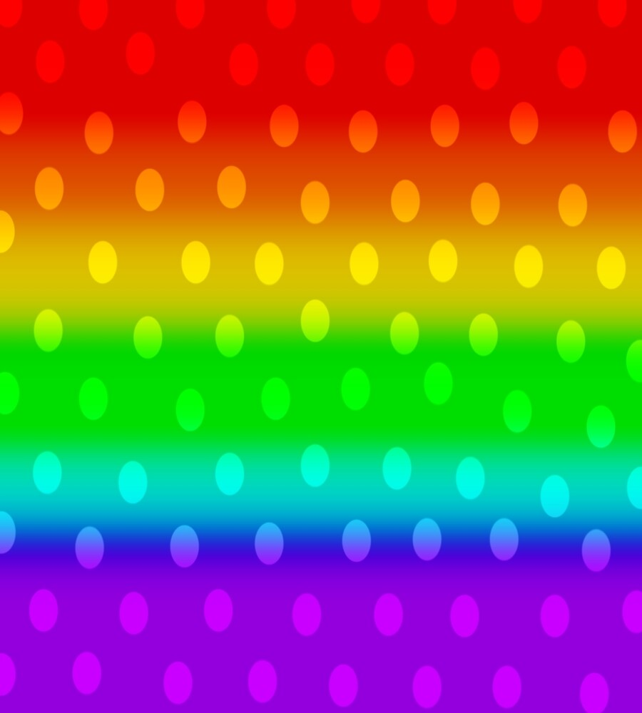 Rainbow Poka Dots 2 by Xinoni