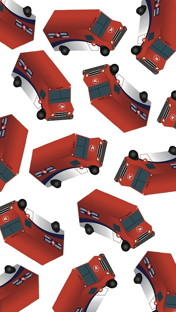 Canada Post Truck - Mosaic Illustration by Destielovers