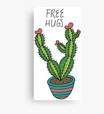 Free Hugs from a Cactus Canvas Print