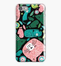 kittens in mittens iPhone Case/Skin
