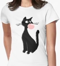 Bubblegum Kitty Womens Fitted T-Shirt