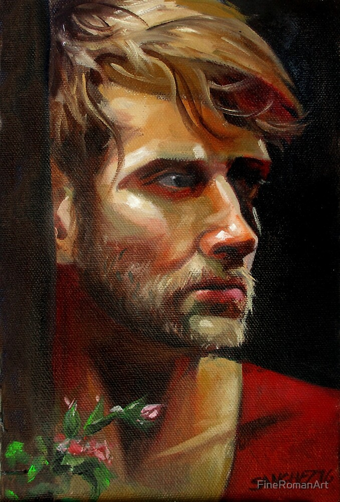 Colby with Roses by FineRomanArt
