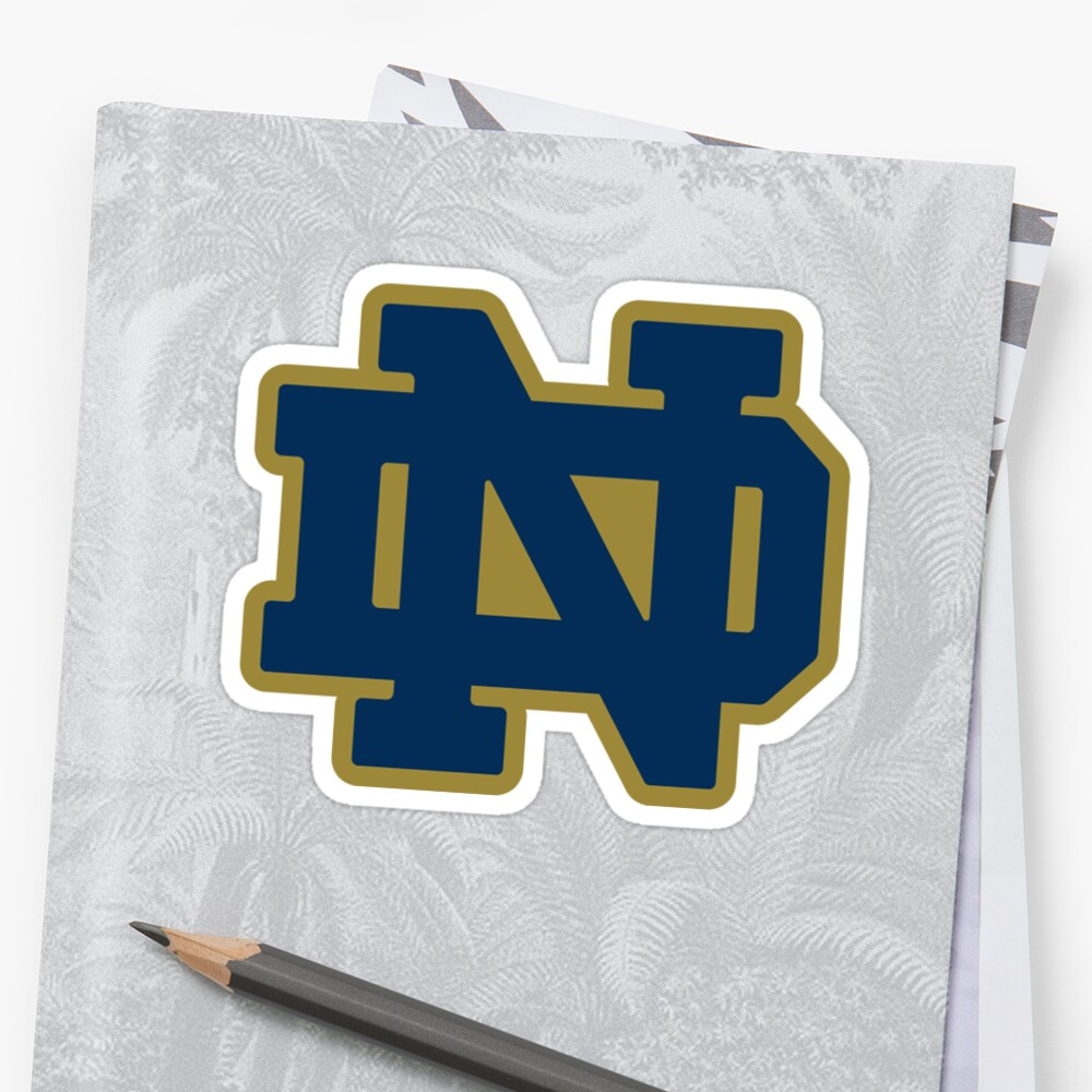 """""""notre dame logo"""" Sticker by catscollegecuts 