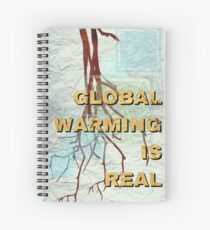 Global Warming is Real Marble Spiral Notebook