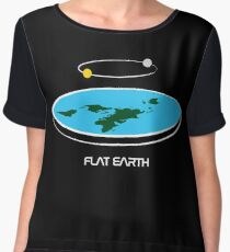Flat Earth Theory Diagram Women's Chiffon Top