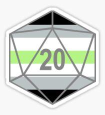 Agender Pride d20 Sticker