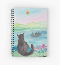 The Cat And The Fishermen Spiral Notebook