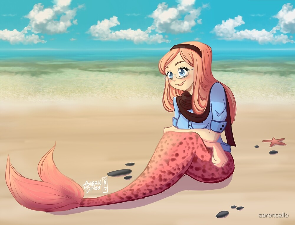 Hipster Mermaid by aaroncello