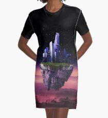 Sky city - Digital Art and Photomanipulation  Graphic T-Shirt Dress