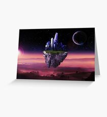 Sky city - Digital Art and Photomanipulation  Greeting Card