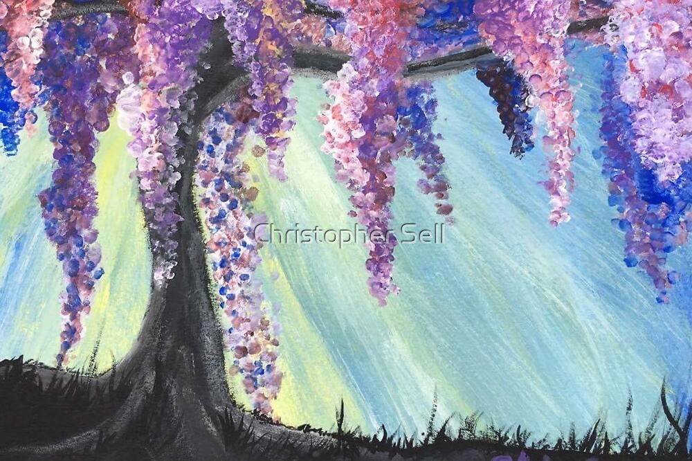 Wisteria Willow in Spring by Christopher Sell