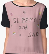 Sleepy & Sad Chiffon Top