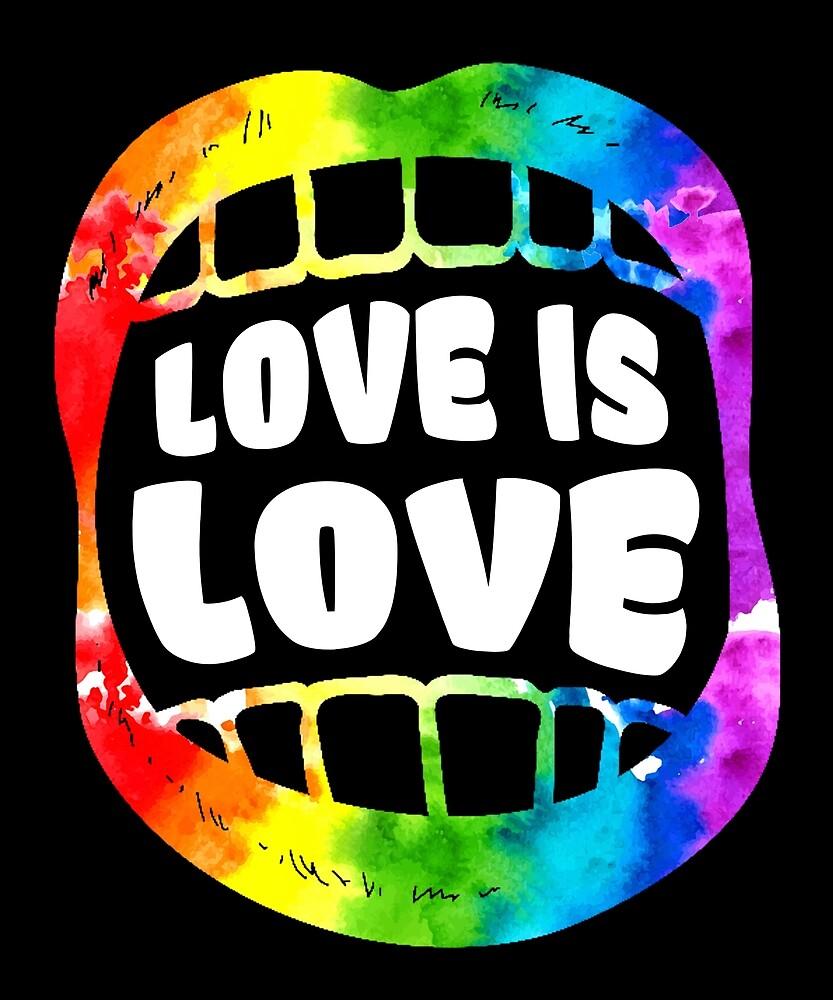 LGBT Gay Homosexual Lesbian Rainbow Lips Pride T Shirt by sondinh